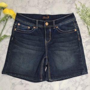 🍀🍀 Seven7 Denim Shorts  Sz 8  EUC